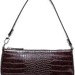 TOBOTO Retro Classic Clutch Croc Tote Bag Shoulder HandBags, Crocodile Purses with Zipper Closure...   Amazon (US)
