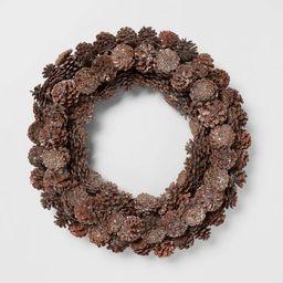 "22"" Pine Cone Wreath - Threshold™   Target"