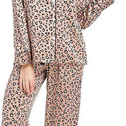 Serenedelicacy Women's Silky Satin Pajamas, Button Up Long Sleeve PJ Set Sleepwear Loungewear   Amazon (US)