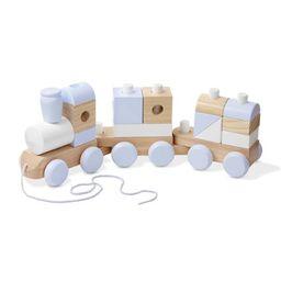 Melissa & Doug Wooden Jumbo Stacking Train – 3-Color Natural Wooden Toddler Toy (17 Pcs) | Walmart (US)