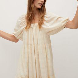 Puffed sleeves cotton dress   MANGO (US)