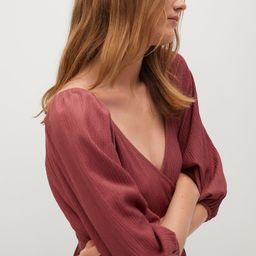 Puffed sleeves dress   MANGO (US)