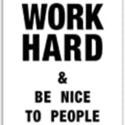 Work Hard & Be Nice to People - Motivational Poster - 11x14 Unframed Wall Art - Home, Office And Cub   Amazon (US)