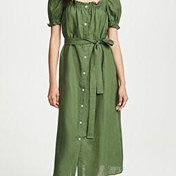 Brigitte Linen Midi Dress   Shopbop