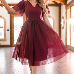 THE PARTY DRESS IN WINE   Ivy City Co