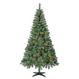 Holiday Time Pre-Lit Madison Pine Artificial Christmas Tree, 6.5', Mini Multicolor Lights | Walmart (US)