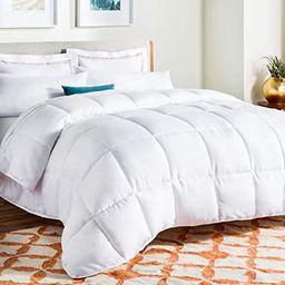 Linenspa All-Season White Down Alternative Quilted Comforter - Corner Duvet Tabs - Hypoallergenic... | Amazon (US)