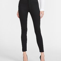 High Waisted Luxe Polished Black Skinny Jeans   Express