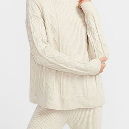 Express X You Cable Knit Mock Neck Sweater   Express