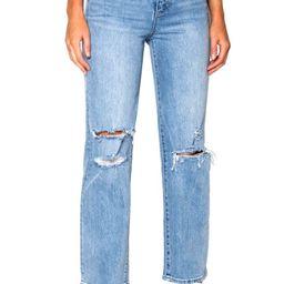 Ziggy Denim Hi Mum Ripped Straight Leg Jeans (Reality Blue Trash)   Nordstrom   Nordstrom