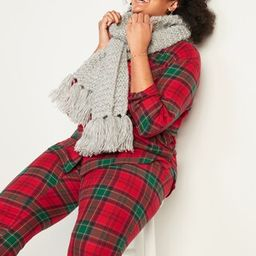 Patterned Flannel Plus-Size Pajama Set | Old Navy (CA)