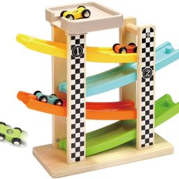 TOP BRIGHT Toddler Toys For 1 2 Year Old Boy And Girl Gifts Wooden Race Track Car Ramp Racer With... | Walmart (US)