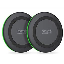 yootech [2 pack] wireless charger qi-certified 7.5w wireless charging compatible with iphone xs max/   Walmart (US)
