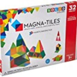 Magna-Tiles 32-Piece Solid Colors Set – The Original, Award-Winning Magnetic Building Tiles – Creati | Amazon (US)