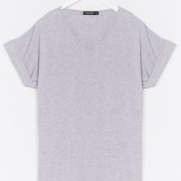 Womens Leave It to V-Neck Relaxed Tee - Grey | NastyGal (US & CA)