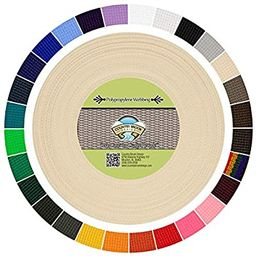 Country Brook Design - Polypropylene Webbing (Cream, 25 Yards, 1 Inch) | Amazon (US)