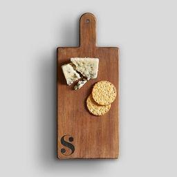 Alphabet Mango Wood Cheese Board   Pottery Barn (US)