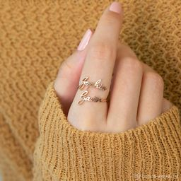 Double Name Ring  Two Name Ring in Sterling Silver Gold and   Etsy   Etsy (US)