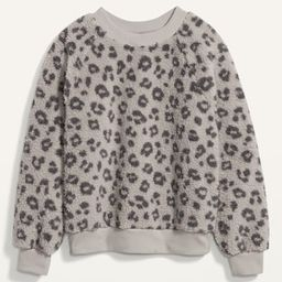 Loose Cozy Sherpa Sweatshirt for Women   Old Navy (US)