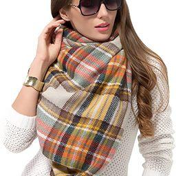 Plaid Blanket Scarf Women Big Oversized Long Scarves Warm Tartan Checked Shawl Wrap Scarf | Amazon (US)