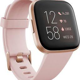 Versa 2 Rose Elastomer Strap Touchscreen Smart Watch 39mm   Macys (US)