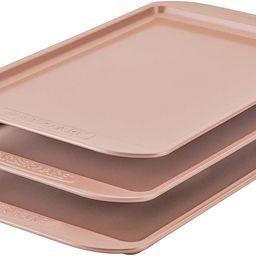 Farberware 120 Limited Edition Bakeware Nonstick Cookie Set/Baking Sheets/Pans, 3 Piece, Rose Gol... | Amazon (US)