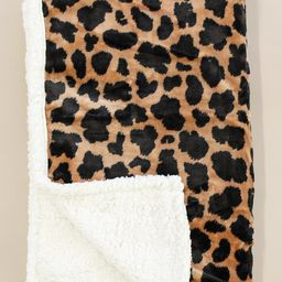 Calling Me Home Brown Animal Print Sherpa Blanket | The Pink Lily Boutique