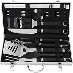 POLIGO 22pcs BBQ Accessories Stainless Steel BBQ Grill Tools Set for Christmas Birthday Gifts - P...   Amazon (US)