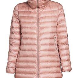 Moncler Women's Souffre Giubbotto Mink Fur-Collar Puffer Coat - Pink - Size 0 (XS)   Saks Fifth Avenue