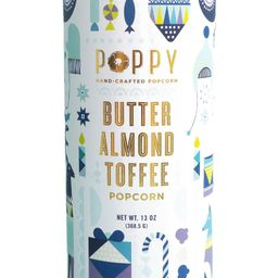 Poppy Hand-Crafted Popcorn Butter Almond Toffee Popcorn Holiday Cylinder | Nordstrom