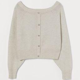 Boat-neck cardigan | H&M (UK, IE, MY, IN, SG, PH, TW, HK, KR)