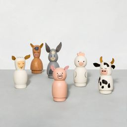 Wooden Toy Farm Animal Set - Hearth & Hand™ with Magnolia | Target