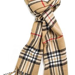 Veronz Soft Classic Cashmere Feel Winter Scarf, White/Red Plaid at Amazon Women's Clothing stor... | Amazon (US)