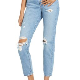Wedgie Icon Fit Ripped Straight Leg Jeans | Nordstrom