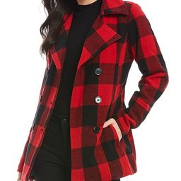 Buffalo Plaid Peacoat Jacket | Dillards