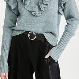 Metallic Ruffle Sweater   Shopbop