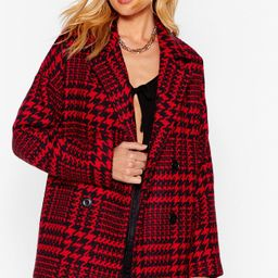 Wool Out All the Stops Houndstooth Jacket   NastyGal (US & CA)