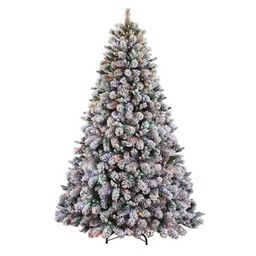 Holiday Living7.5-ft Albany Pine Pre-Lit Traditional Flocked Artificial Christmas Tree with 600...   Lowe's