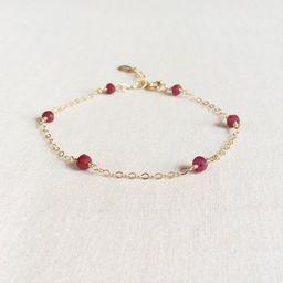 Ruby Bracelet , Ruby Jewelry, 14k Ruby Bracelet, Genuine Ruby Bracelet, July Birthstone Bracelet,... | Etsy (US)