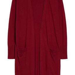 Women's Halogen Open Front Pocket Cardigan, Size Medium - Red | Nordstrom