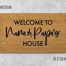 Welcome to Nana and Papas House Doormat, Grandparents Doormat, Birthday Gift, Anniversary Gift, G... | Etsy (US)