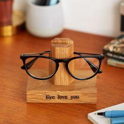 Solid Oak Personalised Glasses Stand / Gifts For Grandparents / Gift for Grandad / Eye Glasses Ho... | Etsy (US)