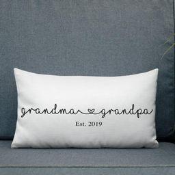 Grandma and grandpa pillows, New grandparents gift, New grandparents pregnancy reveal pillow, Gif... | Etsy (US)