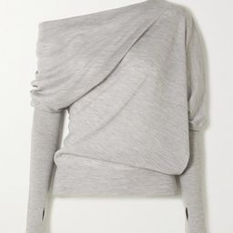 TOM FORD - Off-the-shoulder Cashmere And Silk-blend Sweater - Gray   Net-a-Porter (US)
