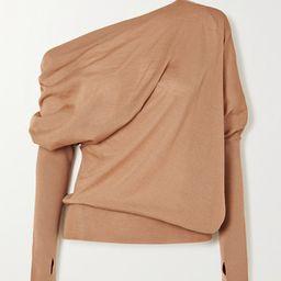 TOM FORD - One-shoulder Cashmere And Silk-blend Sweater - Beige   Net-a-Porter (US)