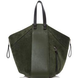Loewe Hammock Leather-Trimmed Suede Tote   Moda Operandi (Global)