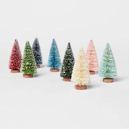 "4.2"""" 8pk Bottle Brush Tree Set Figurines - Threshold | Target"