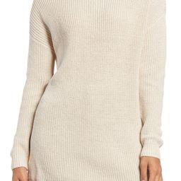 Oversized Turtleneck Tunic Sweater   Nordstrom