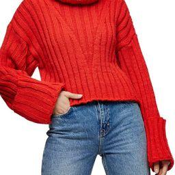 Topshop Turnback Cuff Turtleneck Sweater | Nordstrom | Nordstrom