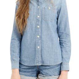 Women's J.crew Button-Up Japanese Denim Shirt, Size 16 (similar to 14W) - Blue | Nordstrom